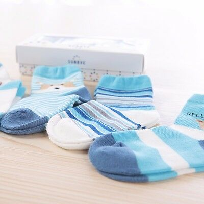 5 pairs in a gift box! Baby boy socks. Age 0-1. Blue.