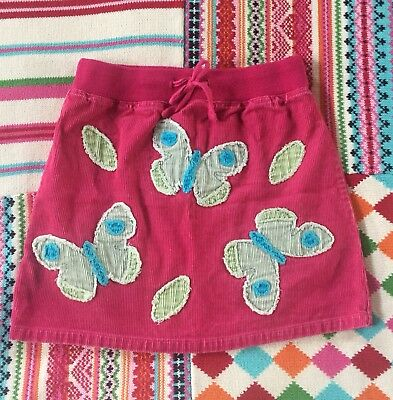 Mini Boden Embroidered Skirt Butterfly S 7 8