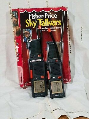 FISHER PRICE SKY TALKERS #0815, 1985, Perfect working Walkie Talkies