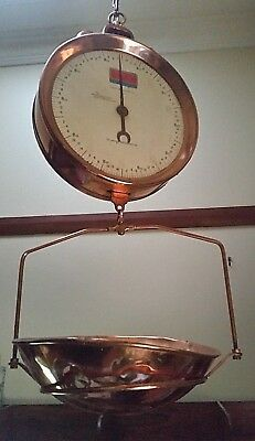 Large Vintage Hanging Copper Shop Scales Made In Australia