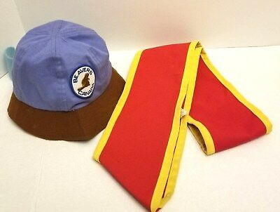Vintage Beavers Canada Red Sash & Cap - Great Condition - Large Size