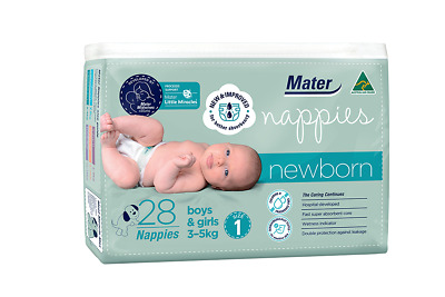 Newborn Nappies 28 Pack