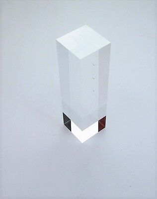 "Clear Acrylic Display Block New Good For Jewelry Store 8 3/4"" x 2 3/8"" x 2 3/8"""