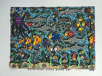 "RIZZI: original 3D ""SOMETHING FISHY GOING ON"", handsigniert, 1995 - VERGRIFFEN"