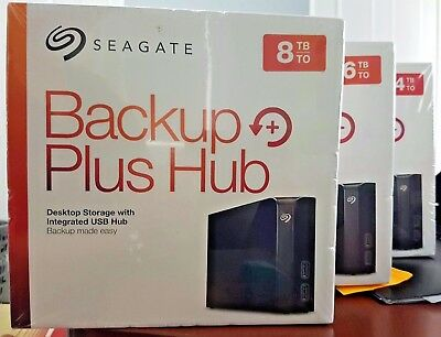 New Seagate 4TB 6TB 8TB 10TB Backup Plus Hub Desktop External Hard Drive.