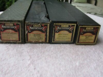 4 Mastertouch Pianola Rolls, Lets Have Another Party, Southern Melodies -More