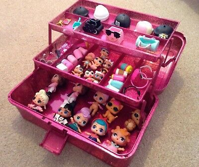 LOL Surprise Doll Storage Carry Case - Organiser Tidy PINK OR SILVER