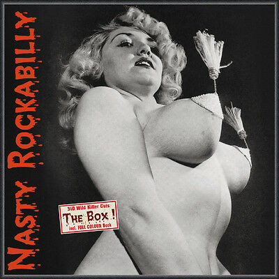 NASTY ROCKABILLY ! The Box ! Be ! Sharp 10-CD Box incl. multi page Booklet MINT