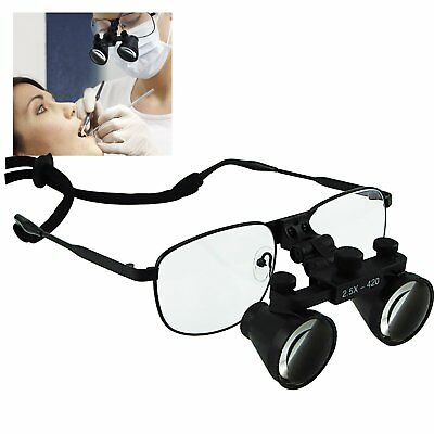 Dental Loupes 2.5x Magnification Flip-Up Flexible Optical Glass Loupe Dentistry