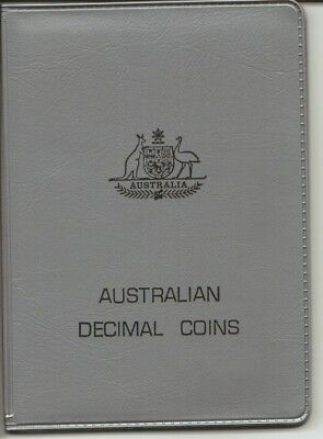 1970 - Australian Decimal Coin Set - In Silver Wallet