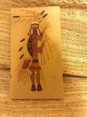 Native American sand painting -  signed by artist