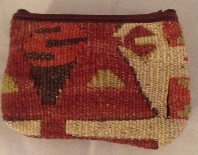 Wallet Coin Purse Made Of Wool Abstract Unique Design