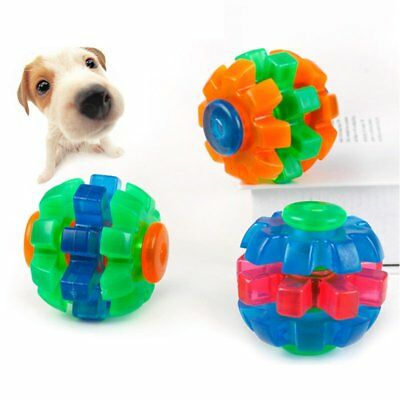 Dog Puppy Molars Bite Chew Spin Ball Teeth Care Training TPR Rubber Toy