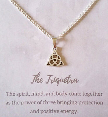 Triquetra Necklace christmas gifts dainty celtic knot pendant spiritual jewelry