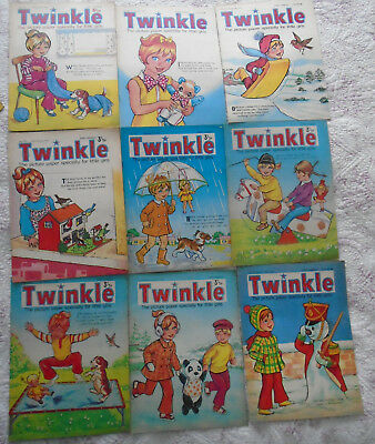 9 Twinkle Comics 1974, Vgc, Bargain!!  Numbers On The Listing