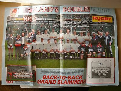 1992 England Rugby Posters & Signatures pack