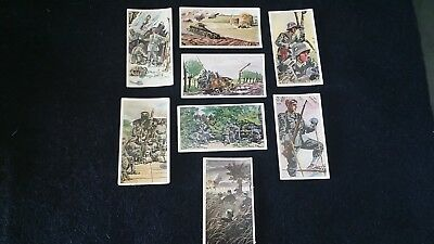 8 X Wwii German Cigarette Cards