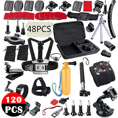 120pcs Accessories Pack Case Chest Head Floating Monopod GoPro Hero 7 6 5 4 3+ 2