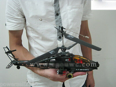 Camouflage Army Green Length 37CM Remote Control Plane Helicopter Model Gift Toy