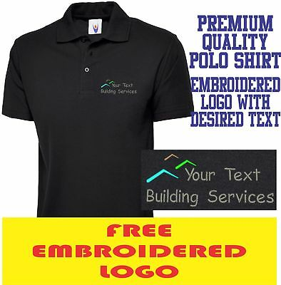 Personalised Embroidered Builder Polo Shirt BUILDING Workwear  UNIFORM LOGO