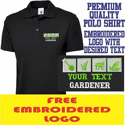 Personalised Embroidered Polo Shirt GARDENER Workwear UNIFORM