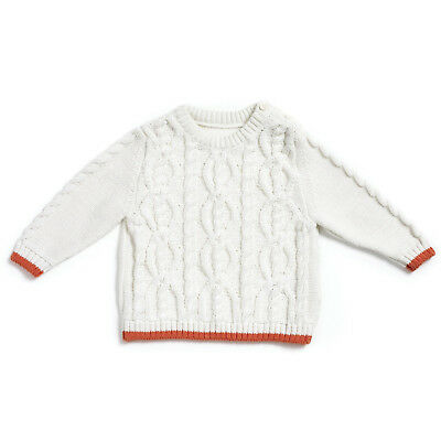 Natures purest My 1st Friend 100% Organic GOTS Cotton Cable Knit Jumper  (0229A)