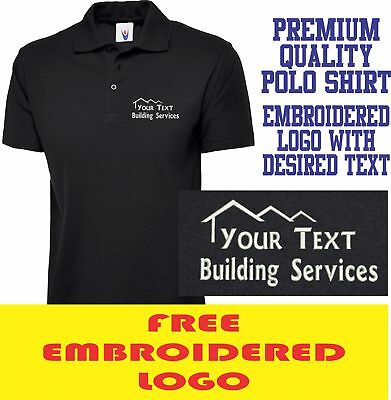 Personalised Embroidered Builder Polo Shirt BUILDING & CONSTRUCTION Work logo