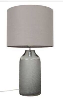 john lewis brea scratched glass table lamp grey rrp 95 49 99