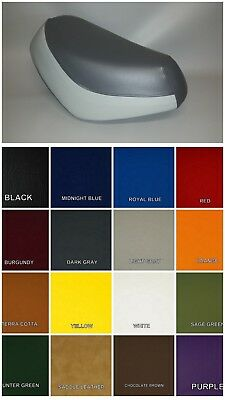 HONDA SA50 Elite 50 SR Seat Cover in 2-tone Charcoal & Light Gray or 25 Colors