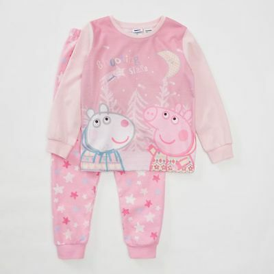NEW Peppa Pig Jersey & Flannelette Pyjama Set Kids