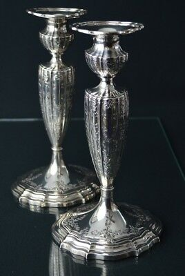 Two Gorham Sterling Silver Candlesticks, circa 1900's