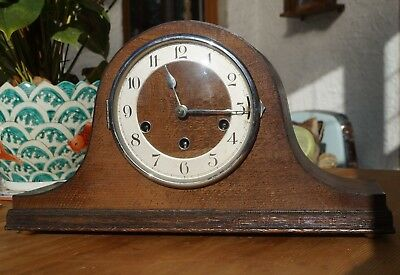 Haller dual chime mantel clock. Westminster/Whittington SEE VIDEO