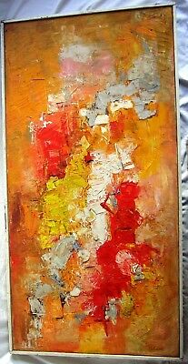 Listed, Morris Shulman 1912-1978 Very Fine Large Original Abstract Oil Painting