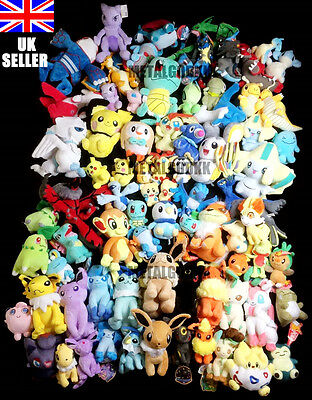 POKEMON Go Plush Toy Collection Over 80 different Soft toy Characters UK SELLER