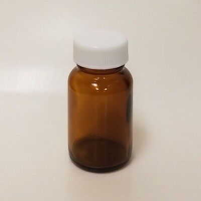 1 oz (30mL) Amber Glass Packers with Caps, Wide Mouth Medicine Bottles (12 Pack)