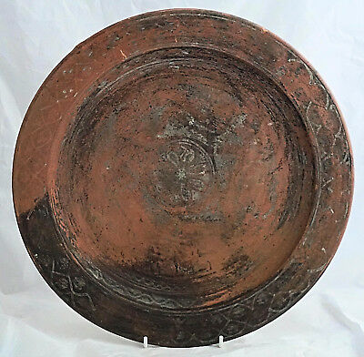 ROMAN Painted TERRACOTTA Large Shallow DISH C4th BRITISH or NORTH AFRICAN