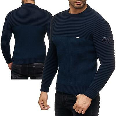 REDBRIDGE MEN S KNIT Jumper Pullover Knitted Sweater Ribbed Texture ... 44f4aaafe