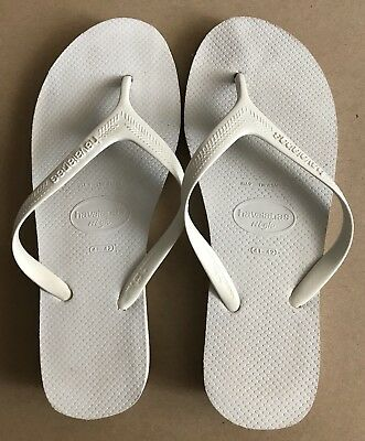 Havaianas High White Low-Wedge Flip-Flops 41/42 Preowned
