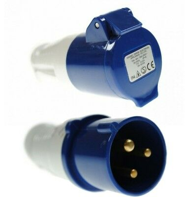 Genuine Maypole 16A 230V 3Pin In-Line Caravan Plug & Socket For Mains Mp372/73B