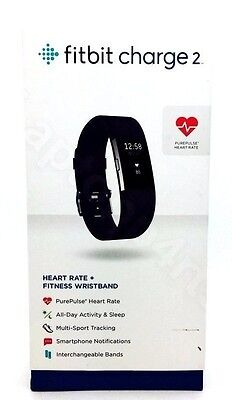Fitbit Charge 2 PurePulse Heart Rate + Fitness Wrist Band Black/Teal/Blue/Purple