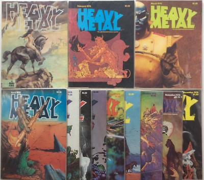 Heavy Metal #10 to #21 complete year 1978. The adult fantasy magazine