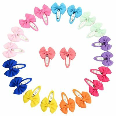 YHXX YLEN 20 Pcs Baby Girls Hair Bows Clips Hairpin Barrettes for Infant Toddler