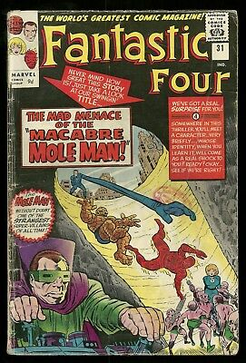 FANTASTIC FOUR vol 1 #31 marvel silver age 1964