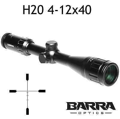 Barra Rifle Scope H20 4-12x40 BDC Reticle Capped Turrets Hunting Precision New