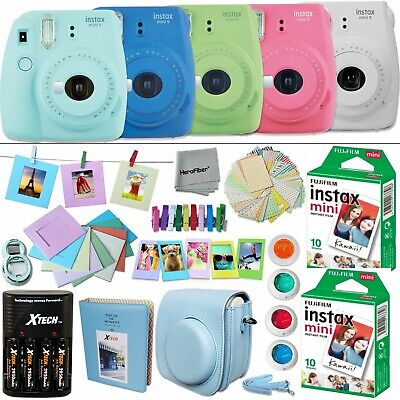 Fujifilm Instax Mini 9 Instant Camera (color) + 20 Sheet Film+Accessory KIT
