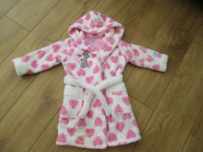 Excellent Condition Girls Marks And Spencers Me To You Dressing Gown Age 18-24M