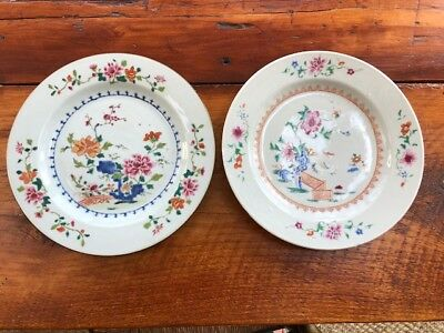 Pair of 9 Inch Chinese Export Plates