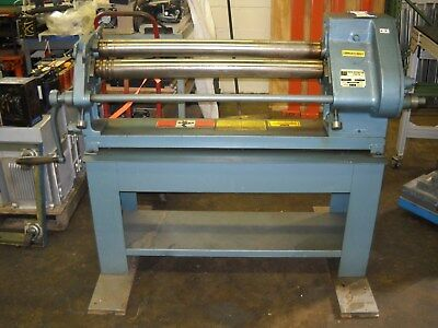 "36"" Roper Whitney # 416 E Sheet Metal Fabrication 16 Gauge Slip Roller w/ Stand"