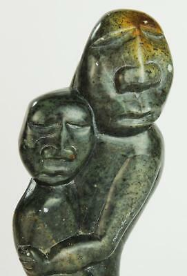Zimbabwe / African Mother & Child Carved Stone Figurine 1988