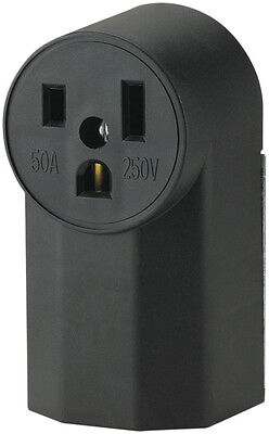 New Cooper Wiring Devices WD1252 50-Amp 125-Volt Power Receptacle, Black
